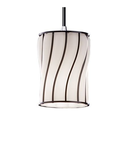 Justice Design Wire Glass Mini 1-Light Pendant in Polished Chrome WGL-8815-10-SWOP-CROM photo