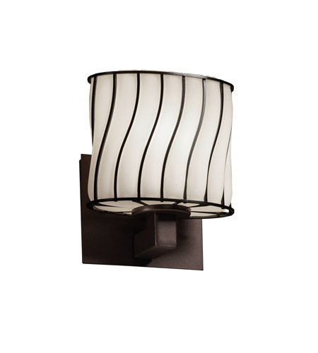 Justice Design Wire Glass Modular 1-Light Wall Sconce (ADA) in Dark Bronze WGL-8931-30-SWOP-DBRZ photo