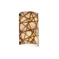 Justice Design 3FRM-5541-CONN-DBRZ 3form 2 Light 8 inch Dark Bronze ADA Wall Sconce Wall Light in Connection
