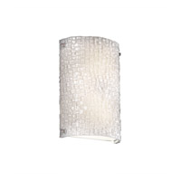Justice Design 3FRM-5541-TILE-CROM 3form 2 Light 8 inch Polished Chrome ADA Wall Sconce Wall Light in Small Tile
