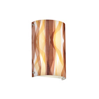 3form 2 Light 8 inch Brushed Nickel ADA Wall Sconce Wall Light in Ribbon Twirl