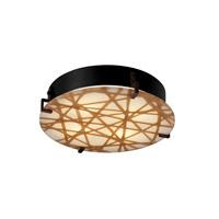 Justice Design 3FRM-5547-TWRL-CROM-LED3-3000 3form LED 17 inch Polished Chrome Flush Mount Ceiling Light in 3000 Lm LED, Ribbon Twirl