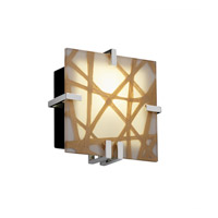 Justice Design 3FRM-5550-TAKE-CROM-LED1-1000 3form LED 9 inch Polished Chrome ADA Wall Sconce Wall Light in Take, 1000 Lm LED