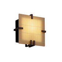 Justice Design 3form LED Wall Sconce in Dark Bronze 3FRM-5550-TAKE-DBRZ-LED-1000