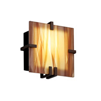 Justice Design 3form LED Wall Sconce in Dark Bronze 3FRM-5550-TWRL-DBRZ-LED-1000