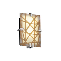 Justice Design 3FRM-5551-CONN-CROM-LED2-2000 3form LED 9 inch Polished Chrome ADA Wall Sconce Wall Light in Connection, 2000 Lm LED