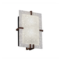 Justice Design 3form 2 Light Wall Sconce in Dark Bronze 3FRM-5551-TILE-DBRZ