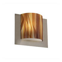 Justice Design 3FRM-5560-TWRL-NCKL 3form 1 Light 12 inch Brushed Nickel ADA Wall Sconce Wall Light in Ribbon Twirl