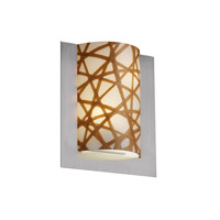 Justice Design 3form 2 Light Wall Sconce in Brushed Nickel 3FRM-5562-CONN-NCKL