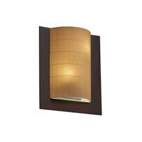 Justice Design 3form 2 Light Wall Sconce in Dark Bronze 3FRM-5562-TAKE-DBRZ