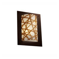 Justice Design 3form 2 Light Wall Sconce in Dark Bronze 3FRM-5563-CONN-DBRZ