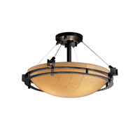 Justice Design 3form 3 Light Semi-Flush in Matte Black 3FRM-8111-35-TAKE-MBLK