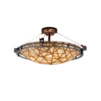 Justice Design 3form LED Semi-Flush in Dark Bronze 3FRM-8112-35-CONN-DBRZ-LED-5000
