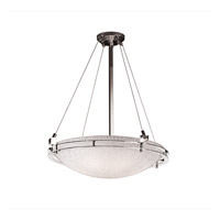 3form 6 Light 28 inch Polished Chrome Pendant Ceiling Light in Small Tile