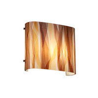 Justice Design 3FRM-8855-TWRL-CROM 3form 2 Light 12 inch Polished Chrome ADA Wall Sconce Wall Light in Ribbon Twirl