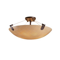 Justice Design 3form LED Semi-Flush in Dark Bronze 3FRM-9612-35-TAKE-DBRZ-LED-5000