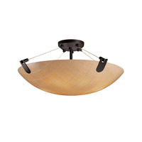 Justice Design 3form LED Semi-Flush in Matte Black 3FRM-9612-35-TAKE-MBLK-LED-5000