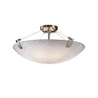 Justice Design 3form LED Semi-Flush in Brushed Nickel 3FRM-9612-35-TILE-NCKL-LED-5000