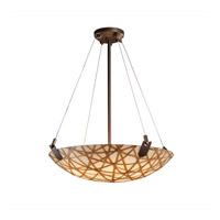 Justice Design 3form 6 Light Pendant in Dark Bronze 3FRM-9622-35-CONN-DBRZ