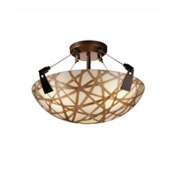 Justice Design 3form LED Semi-Flush in Dark Bronze 3FRM-9631-35-CONN-DBRZ-LED-3000