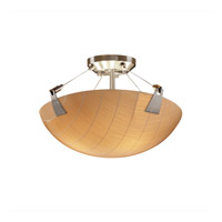 Justice Design 3form LED Semi-Flush in Brushed Nickel 3FRM-9631-35-TAKE-NCKL-LED-3000