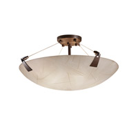 3form 6 Light 27 inch Dark Bronze Semi-Flush Ceiling Light in Fossil Leaf