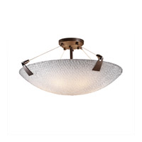 3form 6 Light 27 inch Dark Bronze Semi-Flush Ceiling Light in Small Tile
