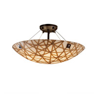 Justice Design 3form LED Semi-Flush in Dark Bronze 3FRM-9652-35-CONN-DBRZ-F4-LED-5000