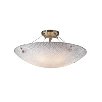 Justice Design 3FRM-9652-35-TILE-NCKL-F2-LED5-5000 Finials LED 27 inch Brushed Nickel Semi-Flush Ceiling Light in 5000 Lm LED Pair of Squares Small