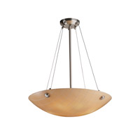 Justice Design 3FRM-9662-35-TILE-NCKL-F5 Finials 6 Light 27 inch Brushed Nickel Pendant Ceiling Light in Concentric Squares, Small Tile, Incandescent, Finials