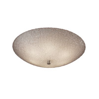 3form 6 Light 24 inch Brushed Nickel Semi-Flush Ceiling Light in Small Tile