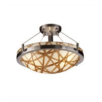 Justice Design 3form LED Semi-Flush in Brushed Nickel 3FRM-9681-35-CONN-NCKL-LED-3000