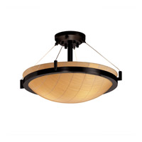 Justice Design 3form 3 Light Semi-Flush in Matte Black 3FRM-9681-35-TAKE-MBLK