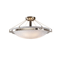 3form 6 Light 27 inch Brushed Nickel Semi-Flush Ceiling Light in Small Tile