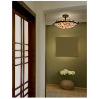 Justice Design 3FRM-9682-35-CONN-DBRZ 3form 6 Light 27 inch Dark Bronze Semi-Flush Ceiling Light in Connection Incandescent