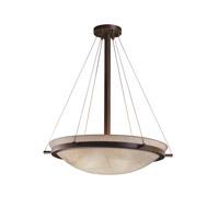 Justice Design 3FRM-9692-35-LEAF-NCKL-LED5-5000 3form LED 27 inch Brushed Nickel Pendant Ceiling Light in 5000 Lm LED, Fossil Leaf