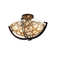 Justice Design 3form LED Semi-Flush in Dark Bronze 3FRM-9711-35-CONN-DBRZ-LED-3000