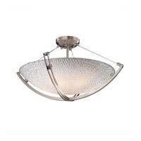 Justice Design 3FRM-9712-35-TILE-NCKL-LED5-5000 3form LED 28 inch Brushed Nickel Semi-Flush Ceiling Light in 5000 Lm LED, Small Tile