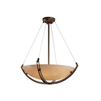 Justice Design 3form LED Pendant in Dark Bronze 3FRM-9722-35-TAKE-DBRZ-LED-5000