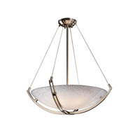 Justice Design 3form 6 Light Pendant in Brushed Nickel 3FRM-9722-35-TILE-NCKL