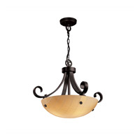 Justice Design 3form 3 Light Pendant in Matte Black 3FRM-9741-35-TAKE-MBLK-F1