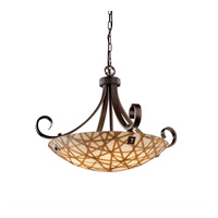 Justice Design 3form 6 Light Pendant in Dark Bronze 3FRM-9742-35-CONN-DBRZ-F4