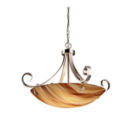 Justice Design 3form LED Pendant in Brushed Nickel 3FRM-9742-35-TWRL-NCKL-F6-LED-5000