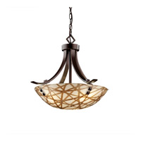Justice Design 3form LED Pendant in Dark Bronze 3FRM-9751-35-CONN-DBRZ-F3-LED-3000
