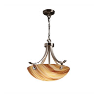 Justice Design 3form 3 Light Pendant in Brushed Nickel 3FRM-9751-35-TWRL-NCKL-F6