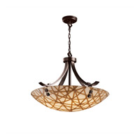 Justice Design 3form 6 Light Pendant in Dark Bronze 3FRM-9752-35-CONN-DBRZ-F2