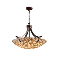 3form 6 Light 30 inch Dark Bronze Pendant Ceiling Light in Pair of Square with Points, Connection