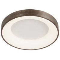 Justice Design ACR-4050-OPAL-LTBZ Acryluxe LED 15 inch Light Bronze Flush-Mount Ceiling Light Sway Family