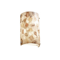 Brushed Nickel Alabaster Rocks Wall Sconces