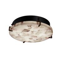 Justice Design ALR-5547-CROM-LED3-3000 Alabaster Rocks LED 17 inch Polished Chrome Flush Mount Ceiling Light in 3000 Lm LED